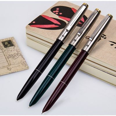 【买就送笔尖】正品英雄329钢笔经典老款钢笔特细练字书法学生笔【3月8日发完】