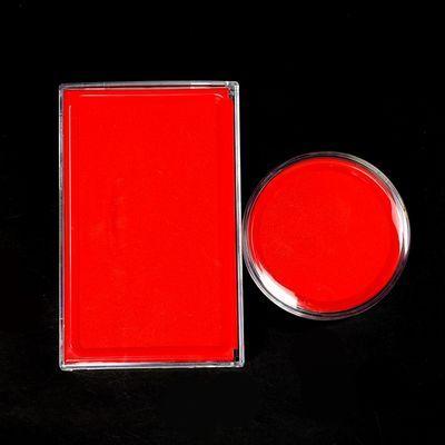 快干印油印章印台盒办公印泥红色印章红色印水印章台手印圆形印章