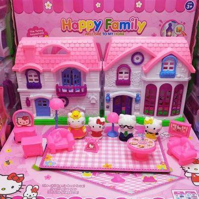 KT凯蒂猫玩具巴士豪华大飞机别墅教室女孩儿童过家家hello kitty