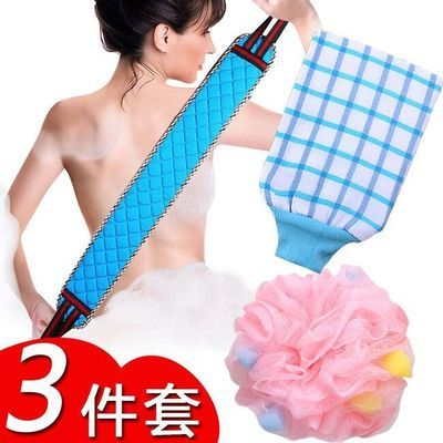 搓澡神器长条洗澡巾拉背条强力搓泥灰搓澡手套搓背刷搓澡巾沐浴球