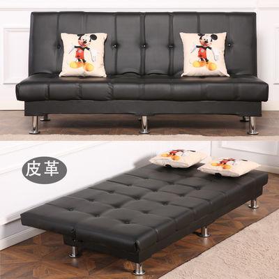 沙发床两用小户型多功能沙发床单人可折叠沙布艺皮质出租房单人床