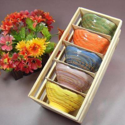 景德镇创意彩色贝壳碗陶瓷日式家用吃饭碗可爱卡通甜品个性餐具