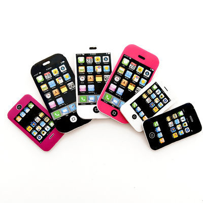 卡通可爱橡皮擦 iphone苹果手机 韩版创意像皮 小学生用品小奖品【3月23日发完】