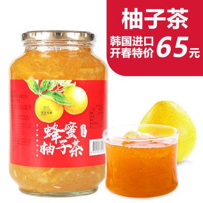 好艺元素韩国进口蜂蜜柚子茶2kg大瓶风味冲饮果酱冬季热饮品包邮