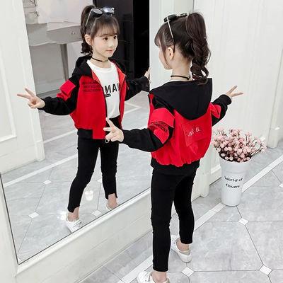 女童春秋2020新款中大童洋气外套儿童韩版秋冬季夹克小女孩衣服潮