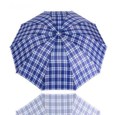 加大号格子雨伞两三人折叠伞简约男女士十骨双人晴雨伞商务伞