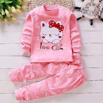 儿童内衣套装纯棉宝宝秋衣秋裤0-8岁男童女童睡衣婴儿衣服春秋装