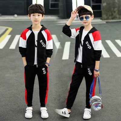 童装男童秋装三件套儿童套装运动休闲服男孩子衣服小学生大童男装