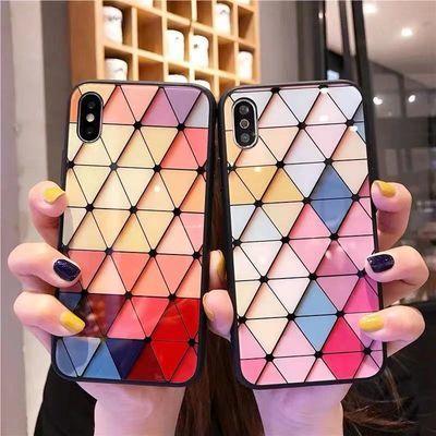 vivox23/y7s/y71手机壳y93/y85玻璃苹果7/8plus女OPPOr15/reno/k3