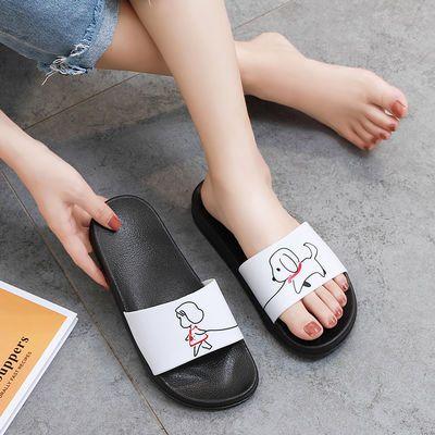 2019新款拖鞋女夏外穿学生韩版家用ins风网红女鞋可爱加厚底防滑