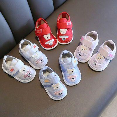 宝宝叫叫鞋春秋婴儿软底学步鞋0-2岁1男女婴幼儿6-12个月防滑童鞋