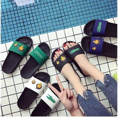 2019夏季新款拖鞋女夏外穿学生韩版卡通家用居家加厚底防滑拖鞋女