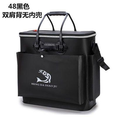 漏水包换、加厚EVA可折叠双肩背鱼护桶钓鱼箱活鱼桶养鱼箱鱼护包