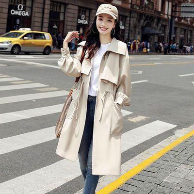 春秋外套女2020新款韩版时尚薄款英伦风大衣收腰显瘦中长款女风衣