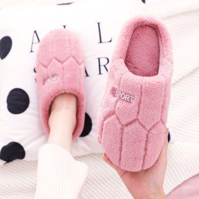 棉拖鞋女秋冬季家居家用室内情侣可爱拖鞋女式冬天保暖毛拖鞋男士