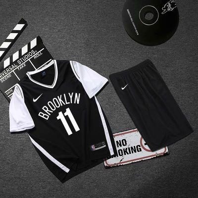 16430/假两件球衣11欧文詹姆斯男女定制NBA篮球服篮网湖人短袖套装队服