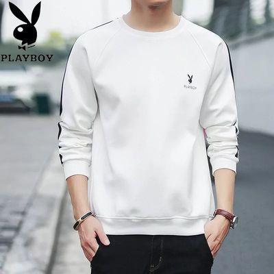 花花公子VIP春秋男装套头卫衣男青年学生韩版宽松上衣男长袖t恤