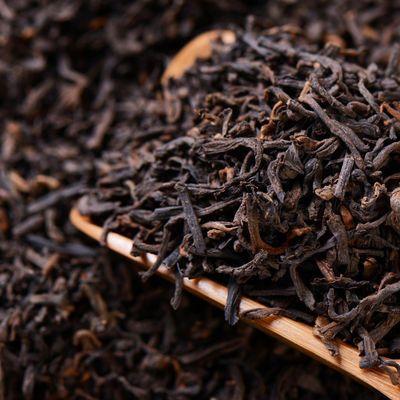 云南普洱茶叶16年普洱茶熟茶陈年普洱茶特级散茶柑普茶原料500g