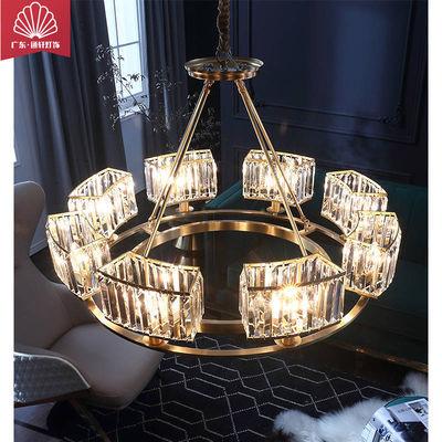 灯具客厅灯耐用餐厅卧室水晶灯全铜钢两用吸顶吊灯送节能LED灯泡