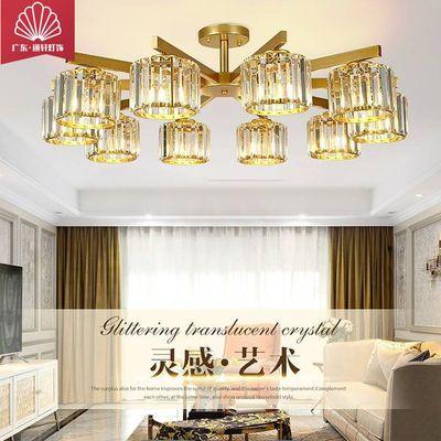 端庄轻奢水晶LED吸顶灯客厅餐厅卧室茶室书房过道饭店包厢客房灯