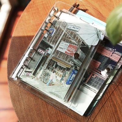日式随身旅行手帐本活页套装PVC透明活页夹手账本外壳记事笔记本