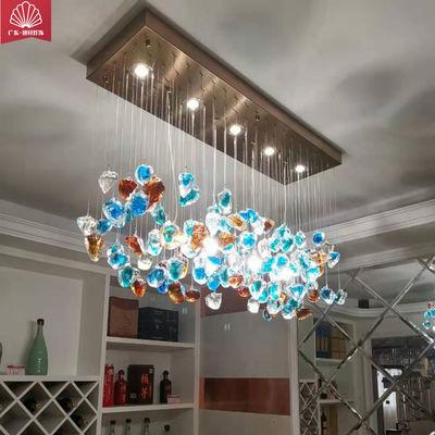 新款客厅灯餐厅灯卧室过道酒店奢华 LED天然水晶石风水吸顶吊灯