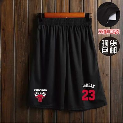 科比詹姆斯保库里韦德篮球短裤男夏透气健身运动篮球裤宽松五分裤