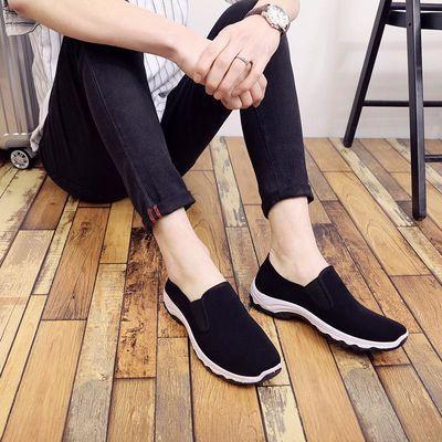 春秋季舒适单鞋休闲男装中年布鞋防滑耐磨登山男式休闲运动布鞋子