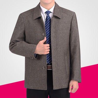 中年夹克男外套春秋款爸爸装中老年男装春季上衣男士春装商务休闲