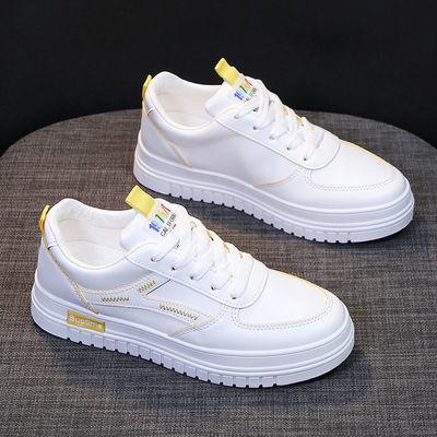 小白鞋女2019新款秋季单鞋百搭韩版学生鞋子女街拍板鞋休闲平底鞋