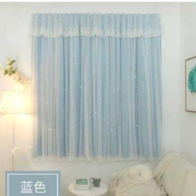 魔术贴免打孔遮光窗帘成品卧室阳台飘窗出租屋小型窗帘布亏本冲量