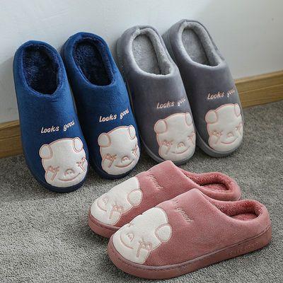 棉拖鞋女冬季室内厚底防滑月子情侣可爱居家毛绒产后新款款棉鞋男主图