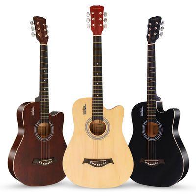 吉他初学者38寸41寸民谣木吉他新手入门学生成人练习吉他男女乐器