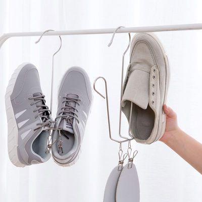 不锈钢晒鞋架阳台晒鞋子挂钩晾晒架窗台防风挂鞋衣架晾鞋架挂鞋架