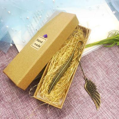 中国风金属创意羽毛书签古风手工纪念品女生闺蜜礼物男生生日礼品