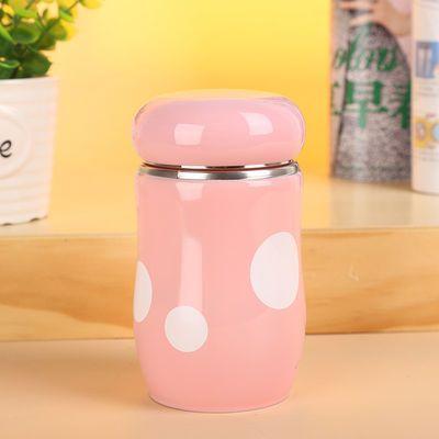清仓日韩304夏季蘑菇保温杯不锈钢内胆男女杯子300ml可爱带盖水杯