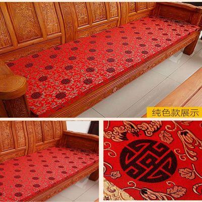 可定做拆洗实木红木防滑中式坐垫海绵联邦椅沙发垫四季椅垫三人座