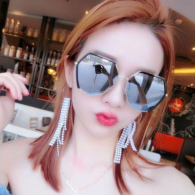 可配近视太阳镜女时尚韩版潮复古潮流风墨镜网红眼镜圆脸防紫外线