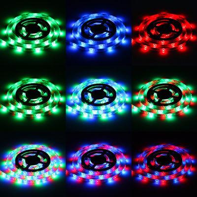 低压5V跑马流水七彩RGB 3528防水USB按键遥控led灯带usb灯插电