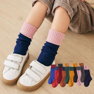 浴巾纯棉成人4双全棉质春秋儿童男女袜子堆堆袜小腿袜长筒袜足球