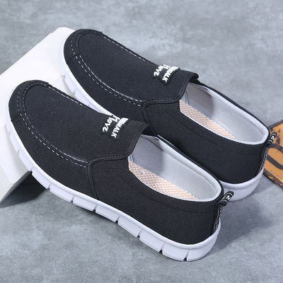老北京二棉鞋 中年冬季加绒布鞋老人鞋男爷爷 男士春季休闲爸爸鞋
