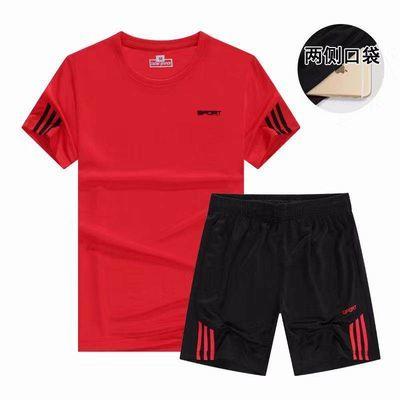 运动服宽松休闲两件套男女夏季健身短袖跑步短裤速干透气运动套装