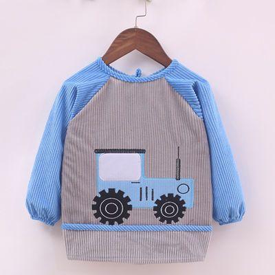 男童婴幼儿围嘴纯棉儿童小汽车防水罩衣口水兜小孩饭兜宝宝吃饭衣