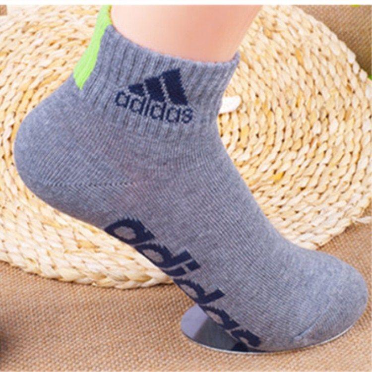 阿迪达斯男女运动袜子纯棉中筒短袜秋冬季厚款包邮防臭吸汗礼盒装