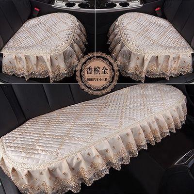 创意汽车坐垫夏季单片小三件套四季通用棉麻蕾丝布艺无靠背防滑座
