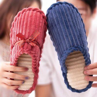 棉拖鞋家用居家室内可爱保暖厚底毛绒月子鞋防滑家居男女情侣冬季