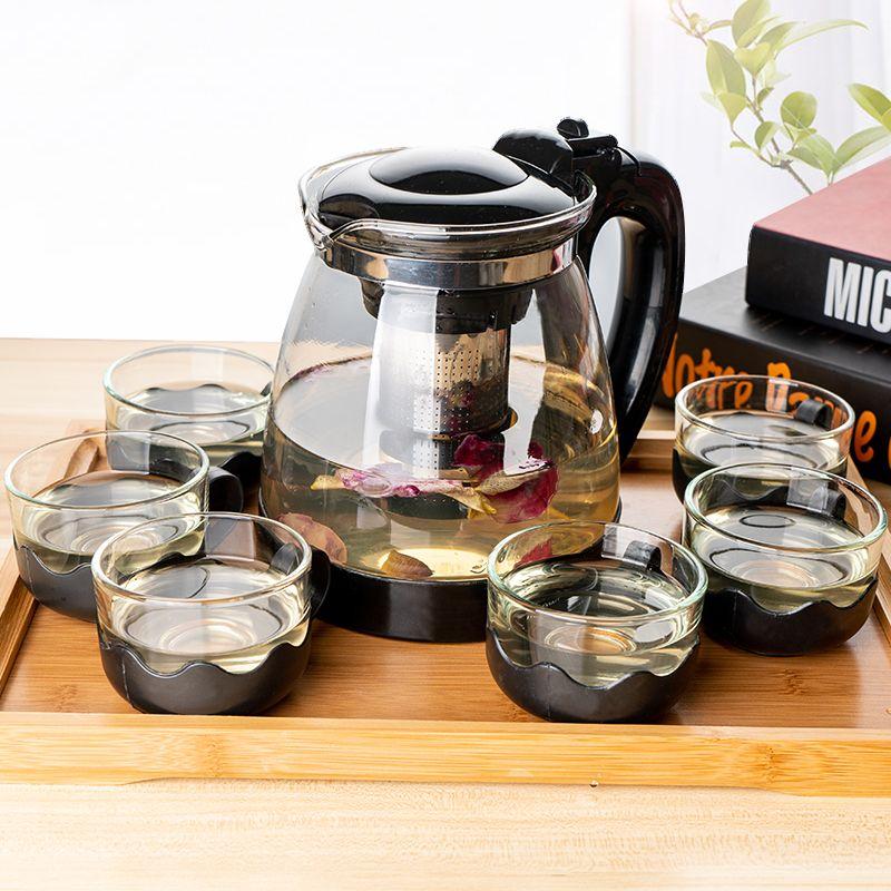 1000/2000ML茶壶 玻璃耐高温泡茶壶单壶大容量茶具花茶壶水壶