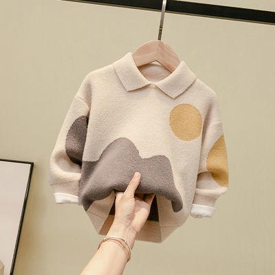 男童毛衣秋装新款上衣套头儿童宝宝学生男孩春秋针织衫洋气冬装潮