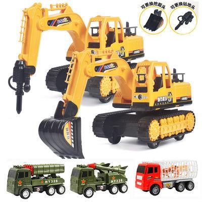 耐摔挖掘机多套餐儿童男孩玩具车工程车军事消防汽车吊车载沙车