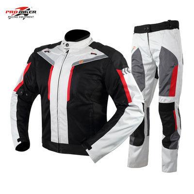 摩托车防水骑行服套装冬季加厚保暖上衣裤子越野机车骑士拉力服男
